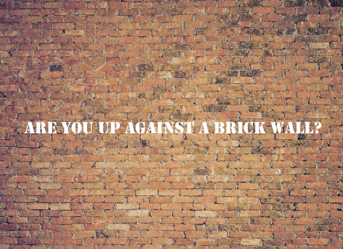 Brick Wall with slogan